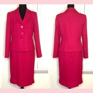 Evan Picone Classic Pink 2pc Skirt Suit Sz 6